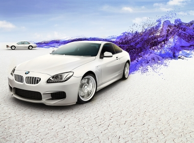3D BMW M6 Car Explosion Illustration Thumbnail