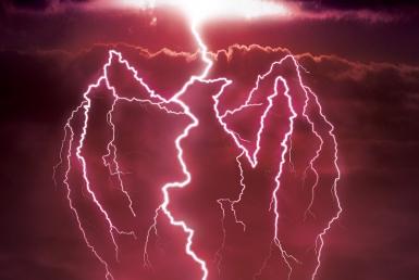 3D Bacardi Lightning Strike Advertisement Illustration Thumbnail