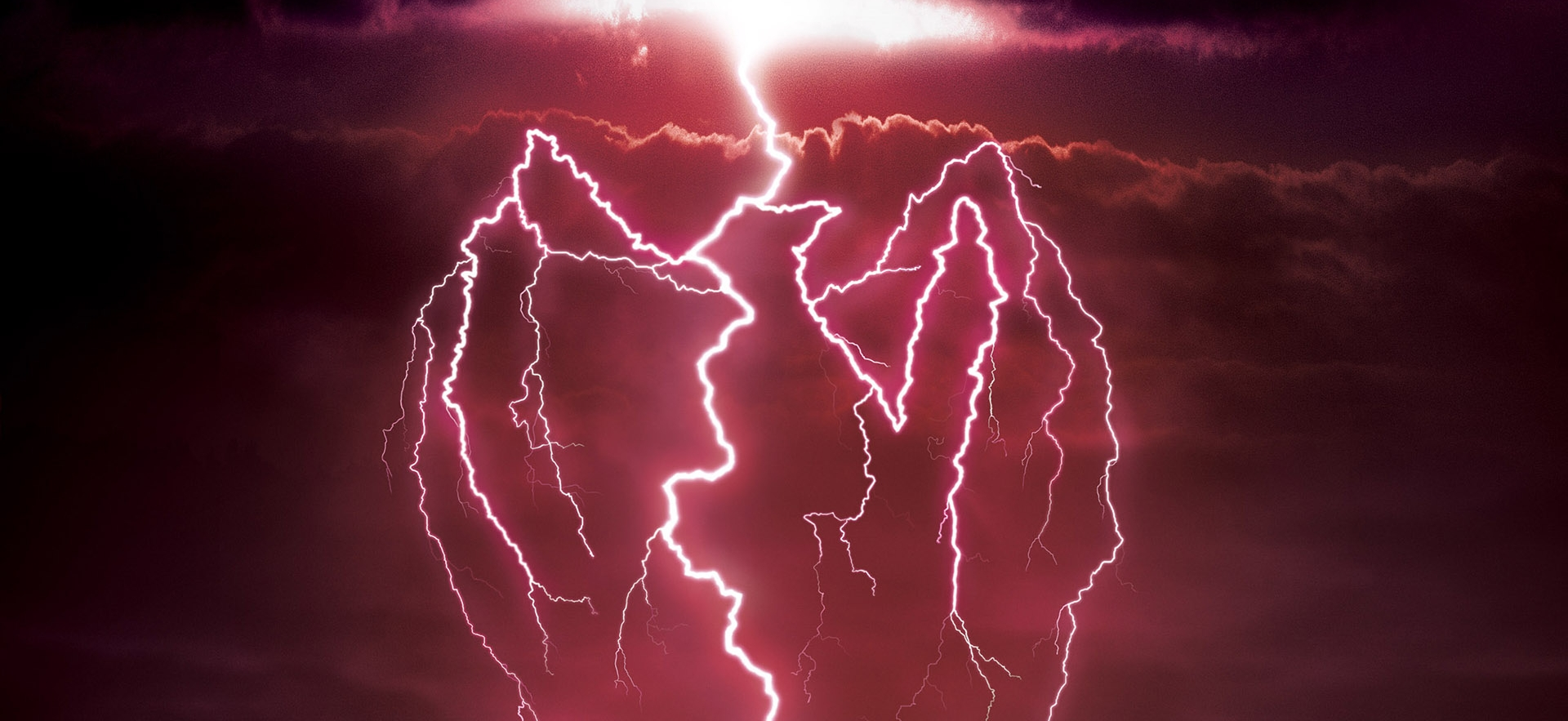 3D Bacardi Lightning Strike Advertisement Illustration Thumbnail