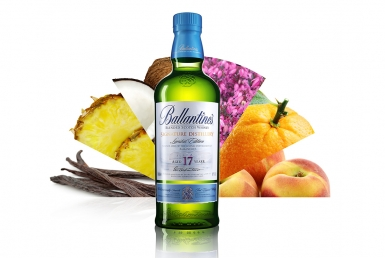 3D Ballantines Whisky Product Illustration Thumbnail