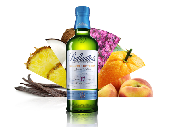 3D Ballantines Whisky Product Illustration Thumbnail