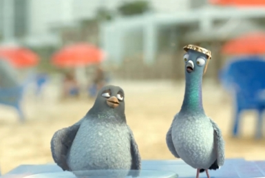 3D Birds on Holiday Cartoon Animation Thumbnail