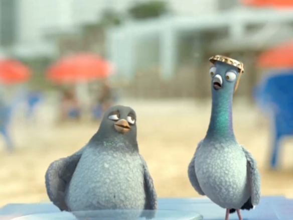 3D Birds on Holiday Cartoon Animation Thumbnail