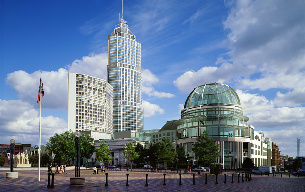 3D Birmingham Town Centre Architecture Illustration Thumbnail