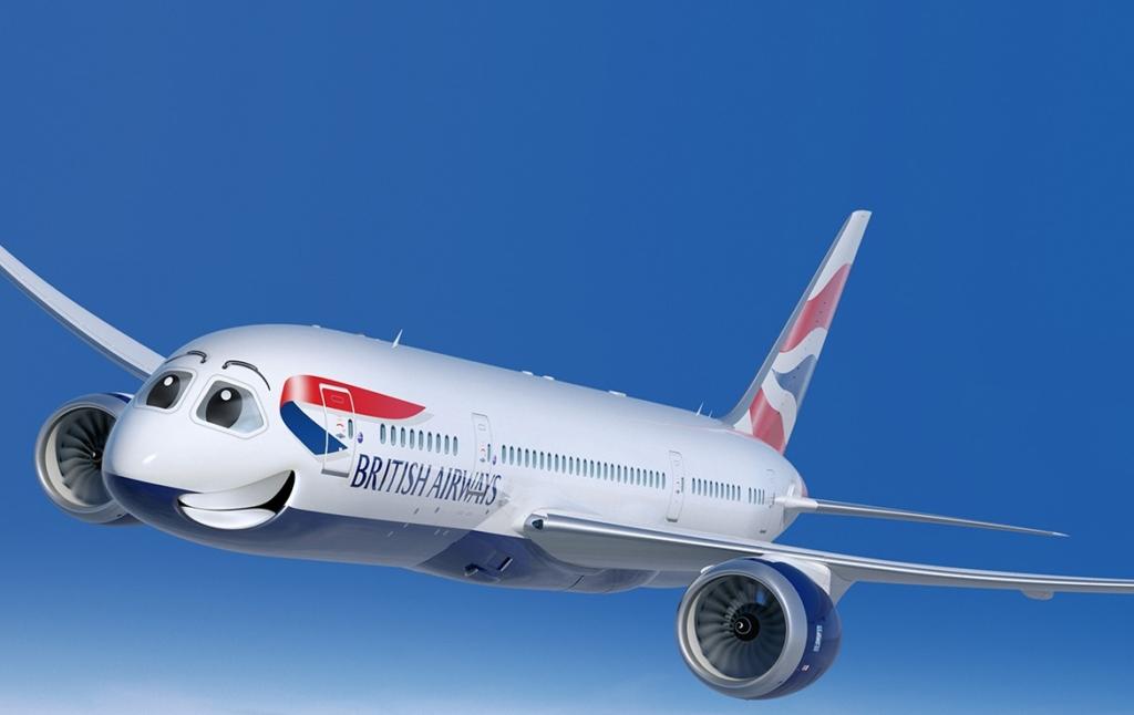 3D British Airways Plane Character Illustration Thumbnail