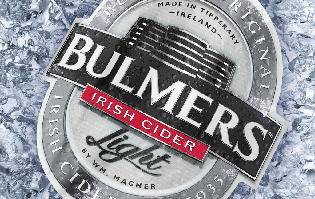 3D Bulmers Light Cider Logo on Ice Advertising Illustration