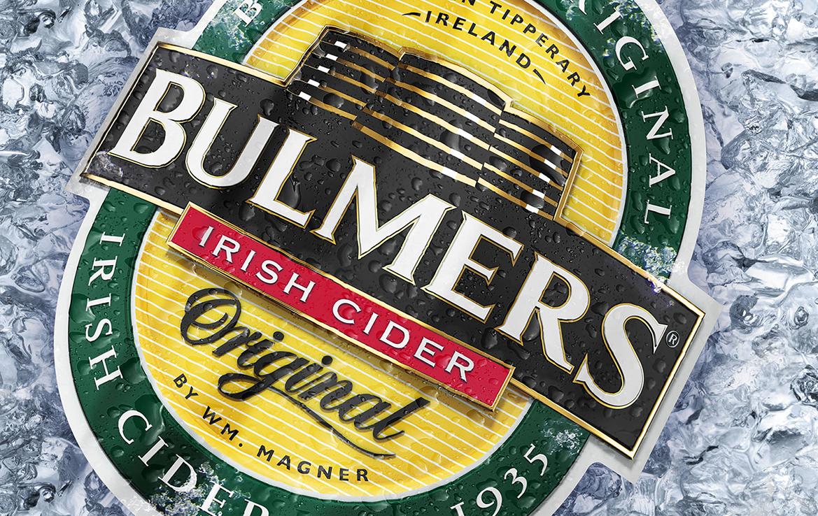 3D Bulmers Original Cider Logo on Ice Advertising Illustration