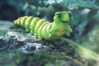 3D Catterpillar Character Illustration Thumbnail