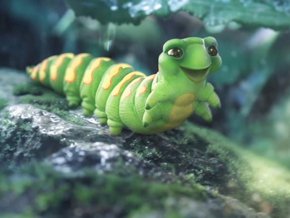 3D Catterpillar Character Illustration Thumbnail