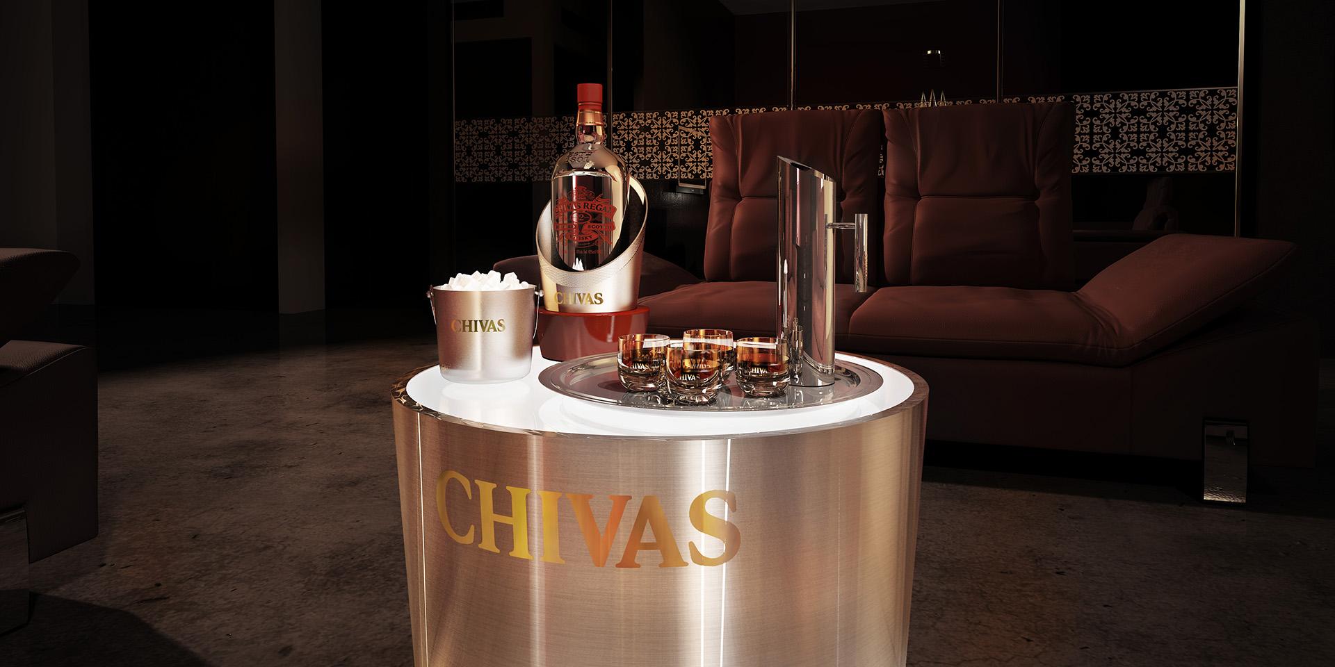 3D Chivas Regal Product Illustration