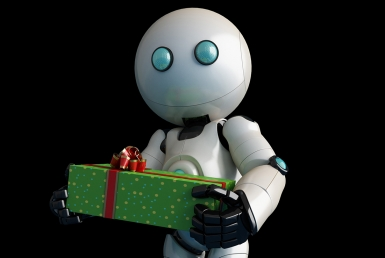 3D Christmas Robot Character Illustration Thumbnail
