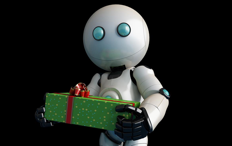 3D Christmas Robot Character Illustration Thumbnail