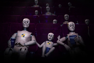 3D Cinema Crash Test Dummy Family Character Illustration Thumbnail