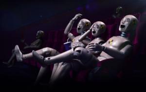 3D Cinema Crash Test Dummy Laughter Character Illustration Thumbnail