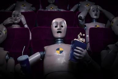 3D Cinema Crash Test Dummy Shocked Character Illustration Thumbnail