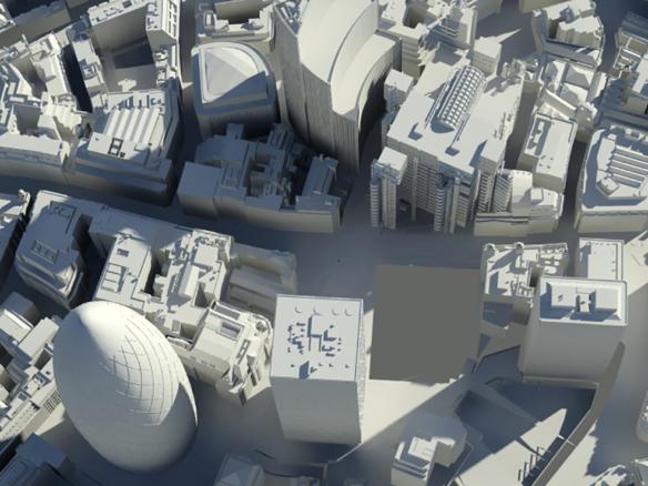 3D City of London Greyscale Illustration Thumbnail