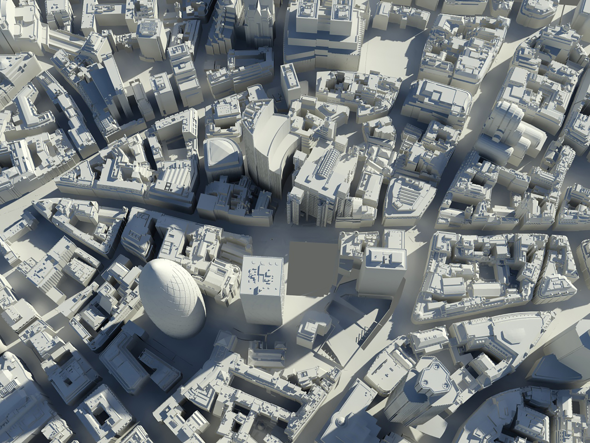 3d City Of London Greyscale Illustration Illustration Agent