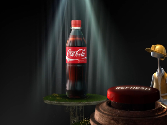 3D Coke Advertising Animation Thumbnail