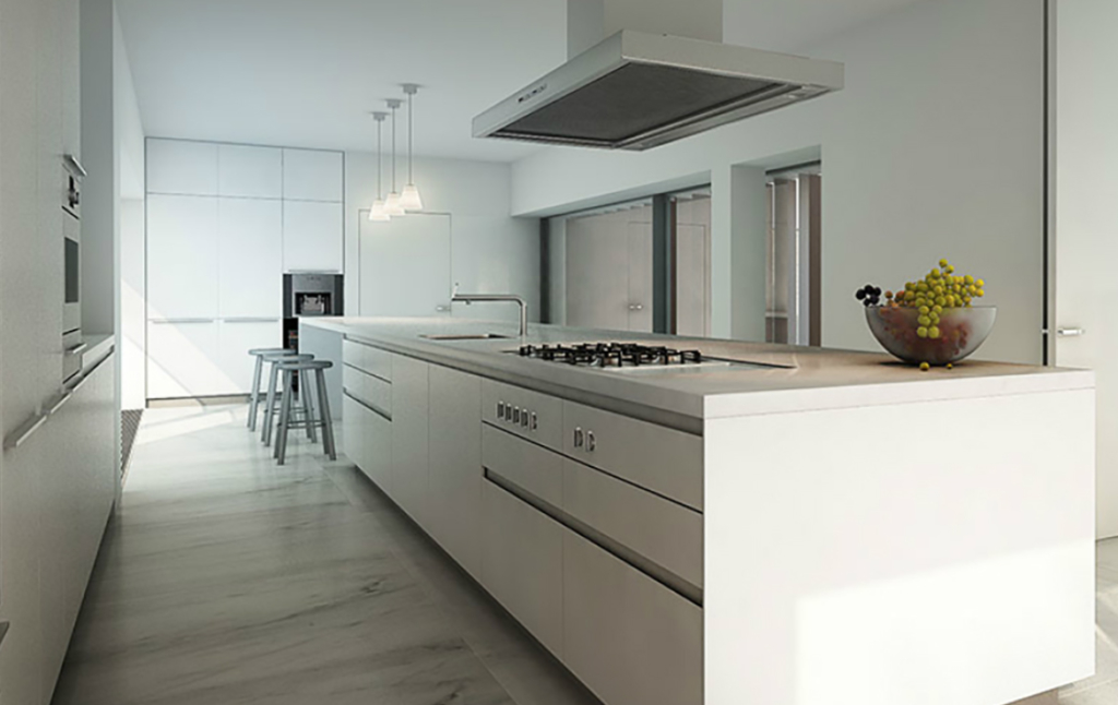 3D Contemporary Apartment Kitchen Interior Illustration Thumbnail