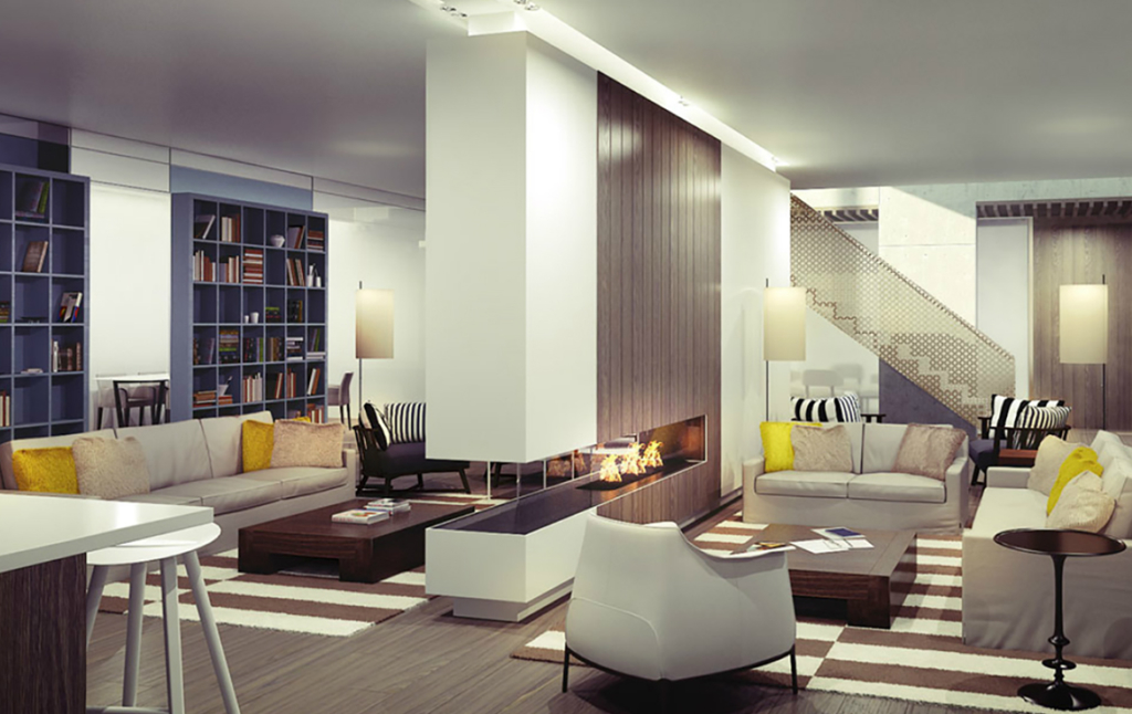 3D Contemporary Living room Illustration Thumbnail