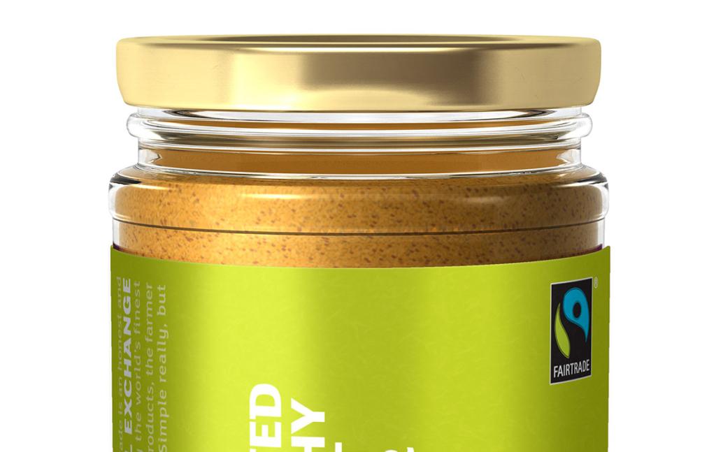 3D Fairtrade Food Unsalted Crunchy Peanut Butter Glass Jar Product Illustration Thumbnail