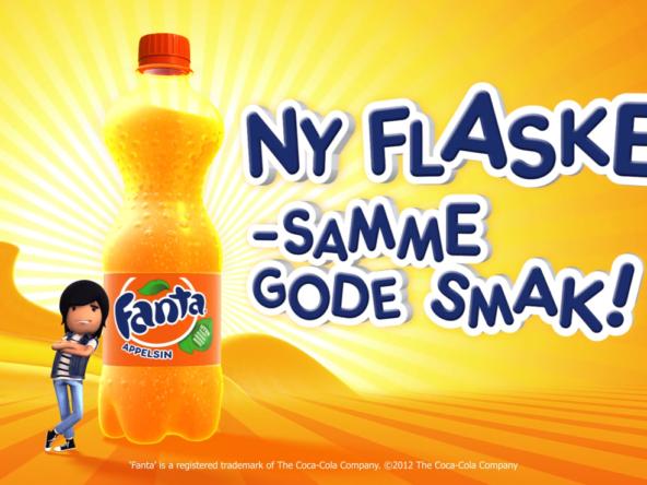 3D Fanta Drink Bottle Advertisement Animation Thumbnail