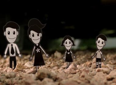 3D Fiat Sticker Family Automotive Animation Thumbnail