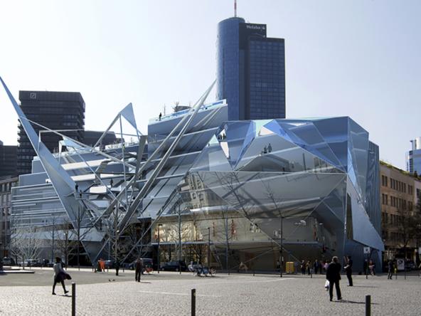 3D Frankfurt Modern Architecture Illustration Thumbnail
