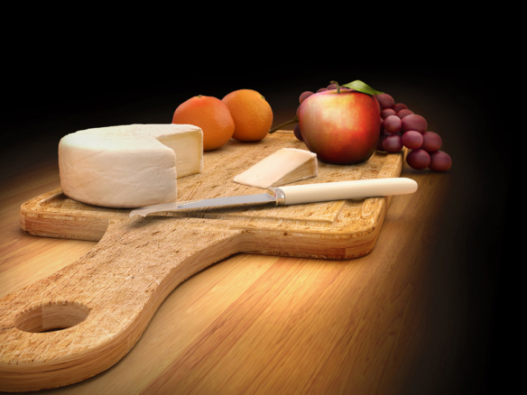 3D Fruit and Cheese Board Food Illustration Thumbnail