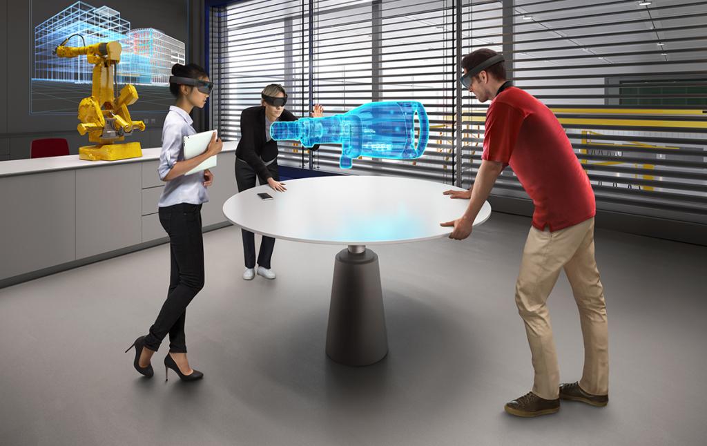 3D Futuristic Engineering Lab Visualization Illustration Thumbnail