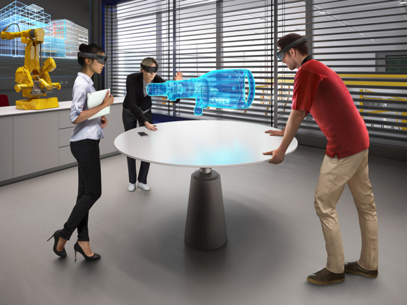 3D Futuristic Engineering Lab Visualization Illustration Thumbnail