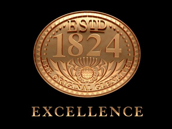 3D Glenlivit Gold Whisky Seal Illustration
