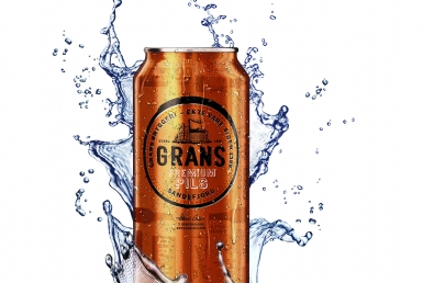 3D Drink Metal Grans Can Splash Illustration Thumbnail