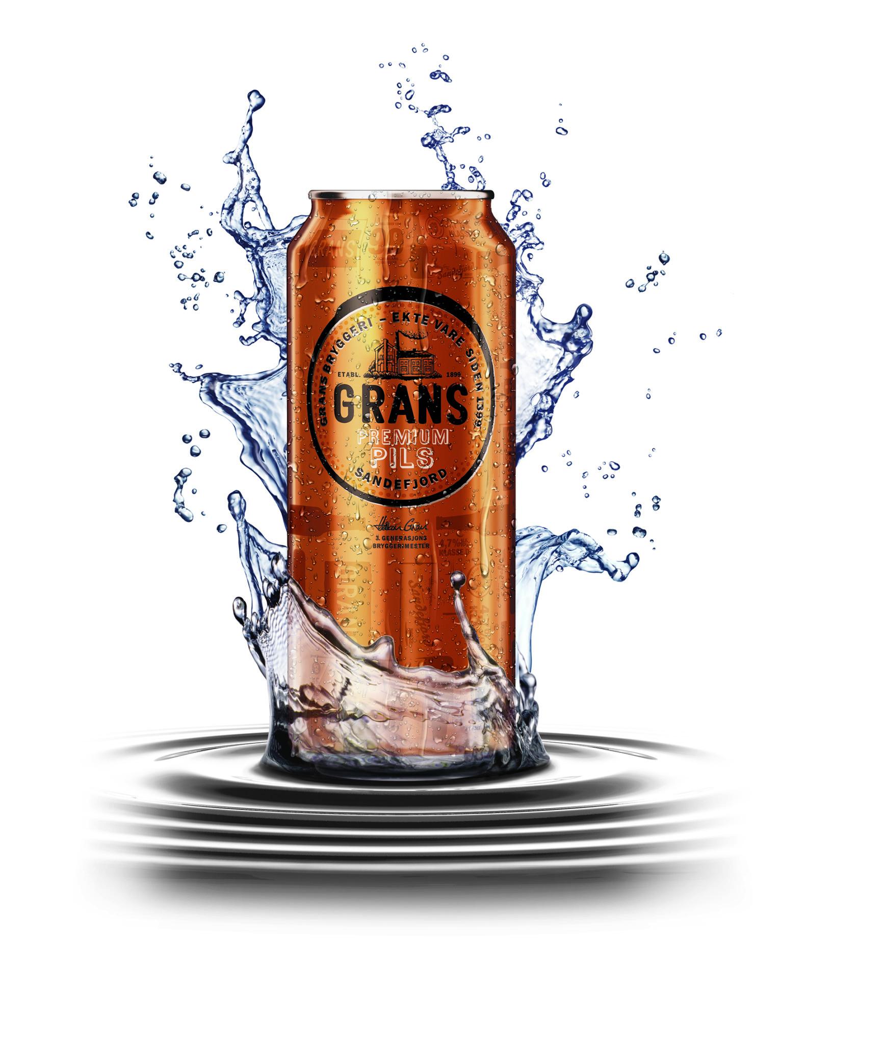 3D Grans Can Splash Illustration