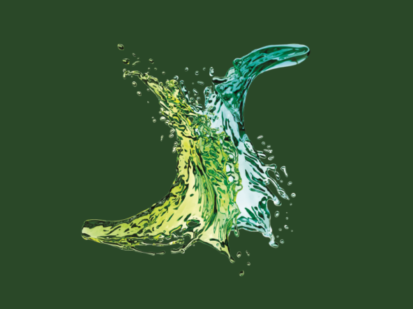 3D Green Liquid Splash CGI Illustration Thumbnail