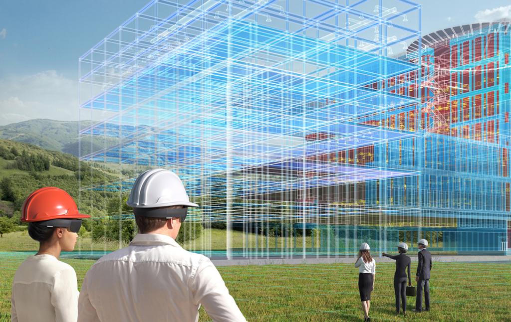 3D Hilti Building Construction Illustration Thumbnail
