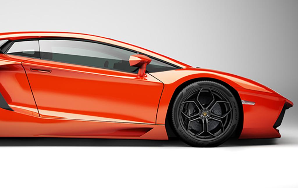 3D Lambogini Aventador Illustration Thumbnail