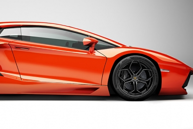 3D Lambogini Aventador Illustration Thumbnail