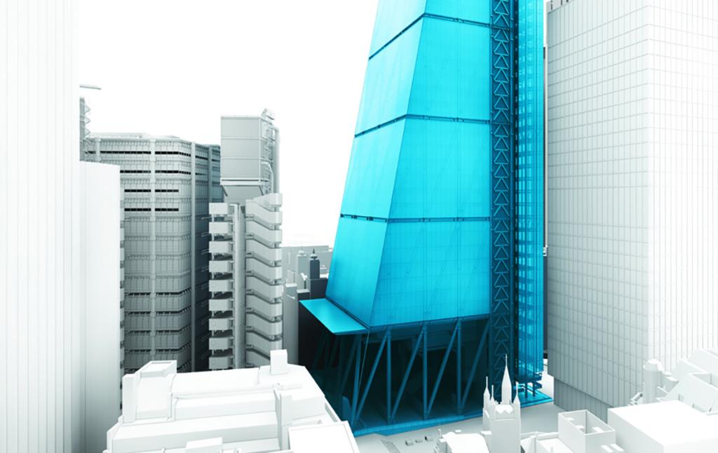 3D Leadenhall Skyscraper Architecture Visualization Illustration Thumbnail