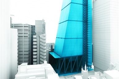 3D Leadenhall Skyscraper Architecture Visualization Illustration Thumbnail
