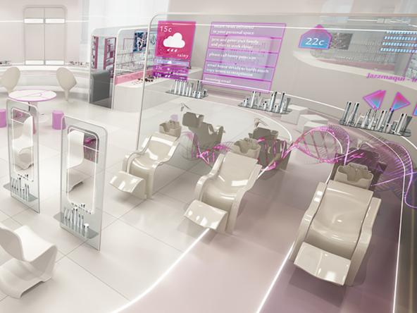 3D Loreal Beauty Studio Interior Architectual Illustration Thumbnail