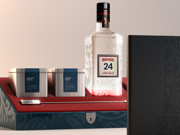 3D Luxury Beefeater Gin Product Collection Illustration Thumbnail