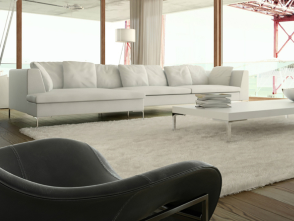3D Modern Apartment Living Room Interior Illustration Thumbnail