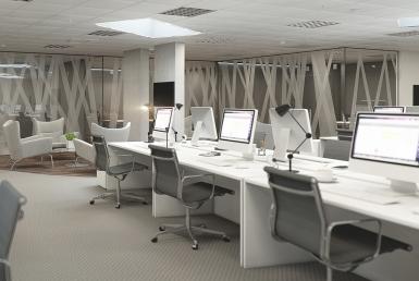 3D Modern Office Interior Visualization Illustration Thumbnail