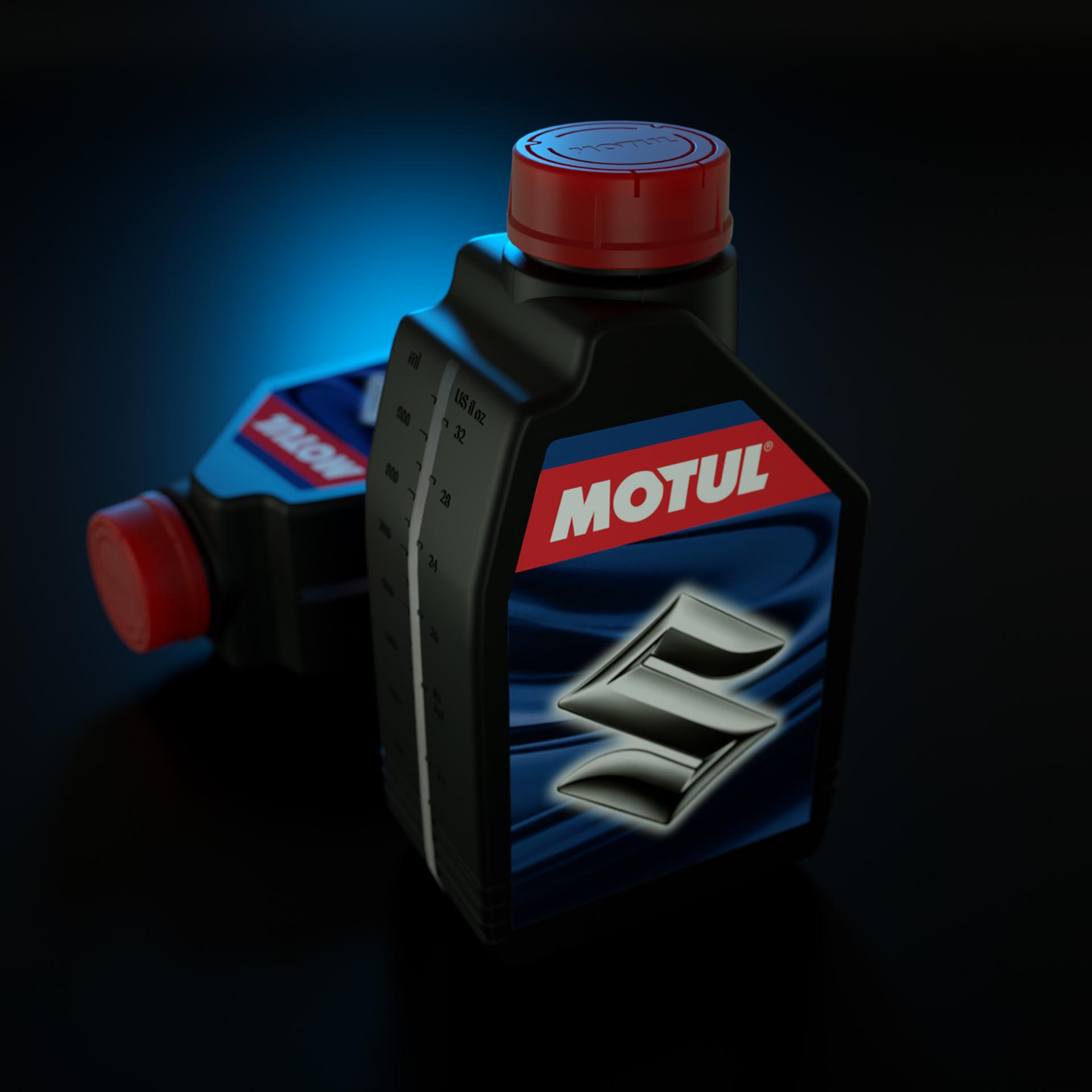 3D Motul Oil Bottle Illustration