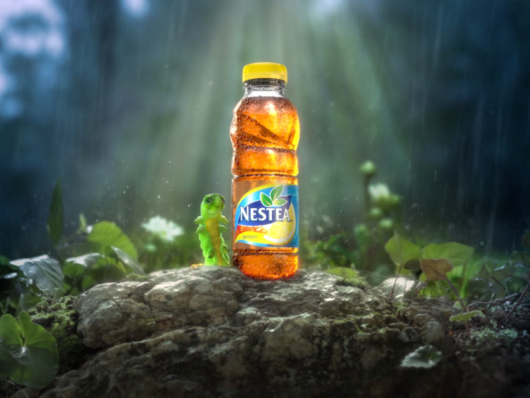 3D Nestea Ice Tea Bottle Advertisement Animation Thumbnail