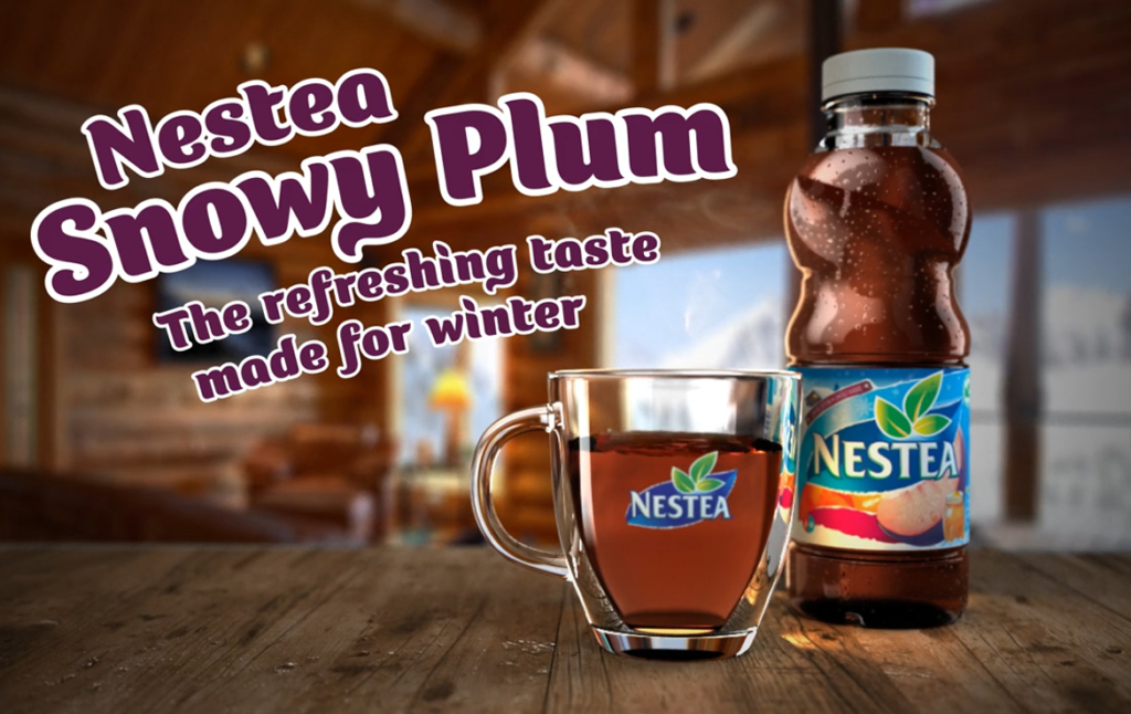 3D Nestea Winter Ice Tea Bottle Advertisement Animation Thumbnail