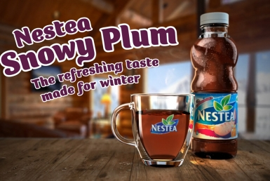 3D Nestea Winter Ice Tea Bottle Advertisement Animation Thumbnail