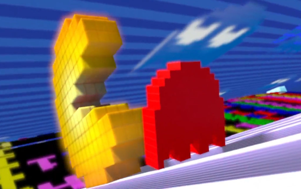 3D Pac-Man Video Game Advertising Illustration Thumbnail