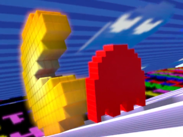 3D Pac-Man Video Game Advertising Illustration Thumbnail